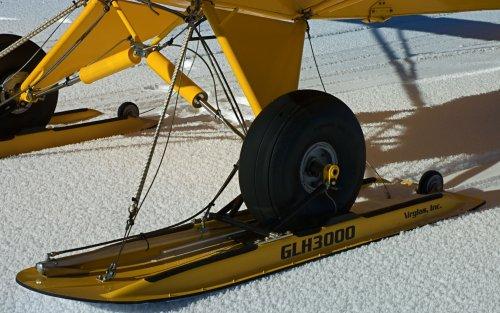 GLH-3000 Composite/Carbon Fiber Hydraulic Wheel Ski: Super Cub and Husky